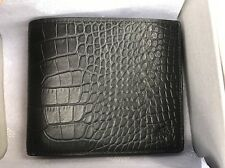 Men's Genuine Mulberry Crocodile Print Wallet / Card Holder Black