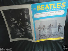 THE BEATLES ORIGINAL 1964 A HARD DAY'S NIGHT SHEET MUSIC SONG BOOK 40 PAGES