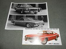 1974 AMC MATADOR COUPE ORIGINAL BROCHURE / CATALOG plus 8 x 10 PRESS PHOTO 2-4-1