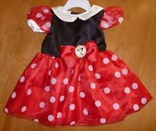 Baby Disney Girls MINNIE MOUSE costume dress Size 3/6 Mo Red Black NWT Satin