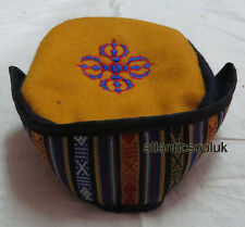 C81 Dorje  embroidery Fashion Himalayan Cotton Sherpa Round Cap Nepal Tibet
