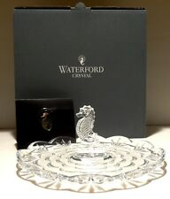 NEW WATERFORD CRYSTAL SEAHORSE SERVING TRAY ~ NEW IN ORIGINAL BOX