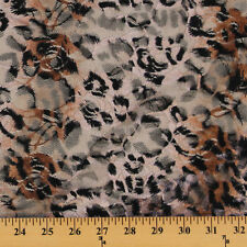 Leopard Skin Print Stretch Lace Nylon Lycra Fabric by the Yard D170.34
