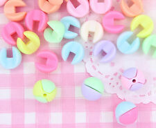 50 x Pastel Colour 14mm CONNECT Beads DIY Jewellery Craft Supplies
