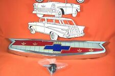 1955 Chevy Hood Emblem Chrome Made In USA Belair Nomad Sedan Wagon Convertible