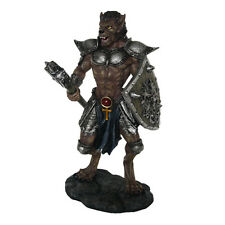 Lycan Werewolf Wolfman Warrior Knight w Shield Weapon Fighter Statue Figurine