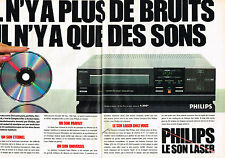 PUBLICITE ADVERTISING 025  1984  PHILIPS  les son laser hi-fi ( 2p)