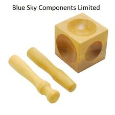 "JEWELLERS 2.5"" WOODEN DOMING PUNCH + BLOCK DAPPING TOOL DOMING SET WOOD"