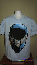Large G.I. Joe Snake Eyes Ninja Face Short Sleeve Casual T-Shirt Blue Medium