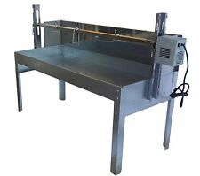 BBQ pig,lamb,spit roast , pig roaster,rotisserie spit + wind shield - Model GSW1
