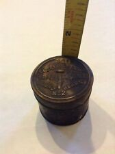vintage Counting House Paper Fasteners Round Heads no 2 tin container aged condi