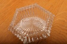 Vintage Glass Angled Hexagon Paperweight Candle Holder Votive