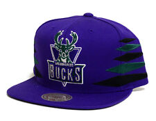 Milwaukee Bucks Mitchell & Ness Solid Diamond Snapback Hat Purple