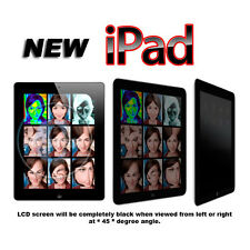 BLACK PRIVATE PRIVACY ANTI PEEK SCREEN PROTECTOR GUARD FOR APPLE iPAD 2 3 4 NEW