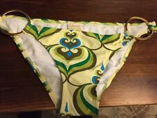 L Space Bikini Bottoms Yellow Printed Batik  X Small New