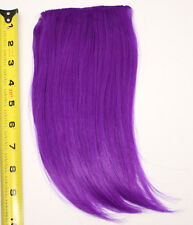 10'' Long Clip on Bangs Indigo Purple Cosplay Wig Hair Extension Accessory NEW