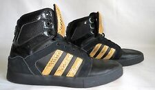 ORIGINAL ADIDAS NEO HIGH TOP BLACK AND GOLD SNAKE SKIN SIZE US 6.5 MEN  8 WOMEN