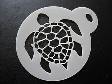 Laser cut small turtle shell design cake, cookie,craft & face painting stencil