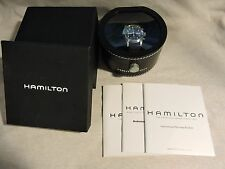 HAMILTON TRIPLE REGISTER CHRONOGRAPH AVIATION PILOT BIGCROWN BLACK MILITARY DIAL