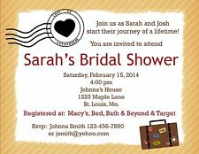20 Personalized Bridal Shower Invitations - Love Is Everywhere  - Travel Theme