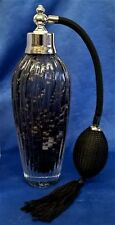 BLACK ART GLASS ATOMISER PERFUME SCENT BOTTLE - JULIANA OBJETS D'ART 60403