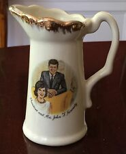 VINTAGE PITCHER CREAMER OF PRESIDENT & MRS. JOHN F KENNEDY Made in USA