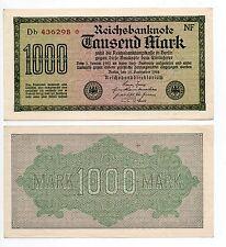 ALLEMAGNE période septembre 1922 billet de 1000 marks Reichsbanknote  lot de 10