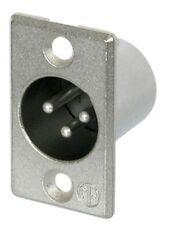 Neutrik NC3MP Male 3 pin XLR Chasis