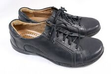 CLARKS Unstructured Un.Birch Black Leather Lace up Oxford Sneaker Shoe Women 8 W