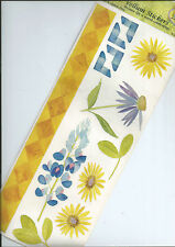 FLOWERS - NRN FLORAL VELLUM CLEAR STICKER SHEET INC LUPIN, BORDER, CORNERS ETC