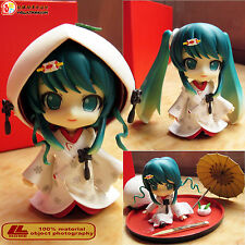 "Anime Hatsune Snow Miku Strawberry White Kimono Nendoroid 303# 4"" Action Figure"