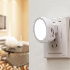 Hot Automatic LED Night Light Plug In Energy Saving Light Dark Sensor Wall Lamp