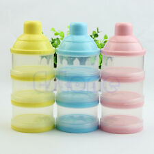 Portable Cute Baby Infant Feeding Milk Powder Bottle Container 3 Cells Grid Box