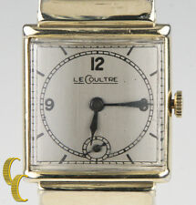 Le Coultre Men's 10k Gold Filled Hand-Winding Watch 438 w/ Black Leather Band