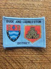 Vintage Cloth Patch Scout Badge Scouting Memorabilia Bude & Launceston Devon