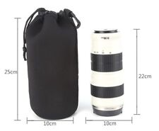 Camera Neoprene DSLR Lens Soft Pouch Protector Case Bag BRAND NEW 100mm x 210mm
