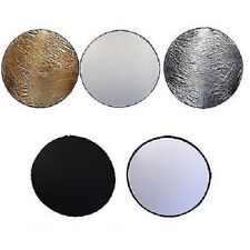 "24"" 60cm 5 in 1 Photo Round Studio Collapsible Reflector Light Diffuser Disc Set"