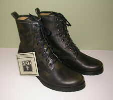 NEW Frye Veronica Combat Boots Black Leather Womens Sz 8.5 B
