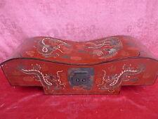 belle,antique bridgebox__bois laqué avec Peinture : Dragon__Coffret__Chine__48cm