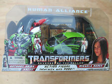 Transformers movie ROTF Human Alliance Autobt Skids Arcee w Mikaela Banes MISB