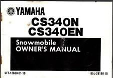 1989 YAMAHA  CS340N, CS340EN  LIT-12628-01-10 SNOWMOBILE OWNERS MANUAL (425)