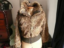 Denim Co Ladies Faux Fur Bomber Jacket size 12
