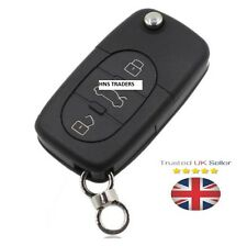 NEW Audi A2 A3 A4 A6 A8 TT 3 Button Key Fob Case Shell With Uncut Blade + LOGO