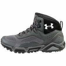 Under Armour UA Glenrock Mid Mens 1254920-035 Steel Grey Hiking Boots US Size 11