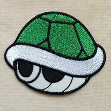 GREEN SHELL TURTLE SUPER MARIO GAME EMBROIDERY IRON ON PATCH BADGE