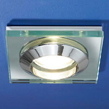 HIB Knight Glass Showerlight 100x100mm IP 55 Rated MR16 with Bulb & Transformer