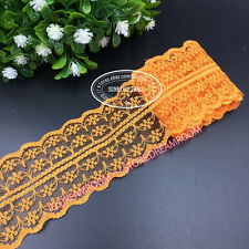 BF01 12 Yard Bilateral Handicrafts Embroidered Net Lace Trim Ribbon Wholesale