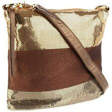 Whiting & Davis 3690 Womens Gold Metal Mesh Hobo Handbag Purse Medium BHFO