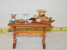 Reutter Table Prep Fruit Compote Dollhouse Miniatures Kitchen Room Box RETIRED