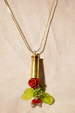 Bullet  Jewelry Necklace 38 Special Shell Guns and Roses Bullet Steampunk